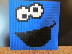 Need more blue Legos, and then doing this soon!   Custom Cookie Monster Lego Mosaic by LexDevil on Etsy, $50.00