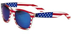 Camping on July 4th with these Classic American Patriot Flag Wayfarer Style Sunglasses. Classic American Patriot Flag Sunglasses. Keep from squinting in the sun with these crazy and fun red, white and blue shades! http://www.campingforfoodies.com/celebrate-the-4th-of-july-with-fun-red-white-and-blue-recipes-and-more/