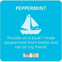 Peppermint essential oil for seasickness #aromatherapy