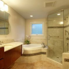 This Ann Arbor Bathroom Remodel Included An Expansion To Accommodate A New Air Jet Bath Tub