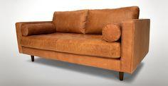 "Sven Charme Tan 72"" Sofa - Sofas - Article | Modern, Mid-Century and Scandinavian Furniture"