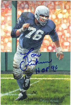 14e993f34 Details about Autographed LOU CREEKMUR Detroit Lions Goal Line Art Card  w COA