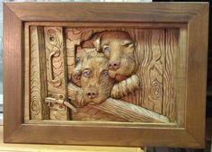 Резьба по дереву wood carving cute :)