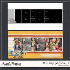 Sweet Shoppe Designs :: Templates Tools :: Layout Templates :: 2 Many Photos 81 by Janet Phillips