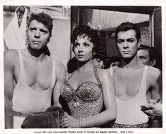 Burt Lancaster, Gina Lollobrigida & Tony Curtis