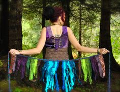 Midnight Orchid Pixie Skirt festival by IntergalacticApparel