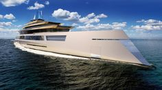 The crew at Sinot Exclusive Yacht Design has just revealed renderings and details about its proposed bi-directional 180 metre superyacht. What makes the vessel unique is that it is completely symmetrical meaning it has been envisioned to sail in either direction and certainly makes for a very eye-catching design. The designs started at the centre of the yacht and then out towards both the identically shaped and styled bow and aft. #Superyacht #MarineElectronics