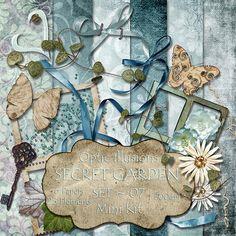 Secret Garden  Set 07  MINI KIT  Digital by opticillusions on Etsy, $3,00