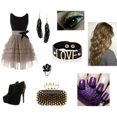 """Girl's night out w/ Ariana Grande."" by fangirrrrrrl on Polyvore"