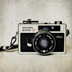 Photo Print - Ricoh Camera 500 G - antique - vintage - accordion camera - polaroid land camera
