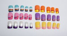 My Little Pony Handpainted False Nails Short by ClawCreations, $35.00
