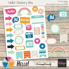 Free Digital and Printable Stickers {with Silhouette studio print and cut files} from Scrumptiously