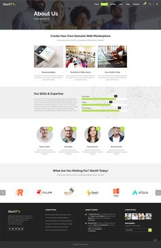 Startit WordPress theme has all you need to create a stunning website for your tech or startup business. Layout Template, Templates, Types Of Technology, App Landing Page, Create Your Website, Building A Website, Start Up Business, Cryptocurrency, Wordpress Theme