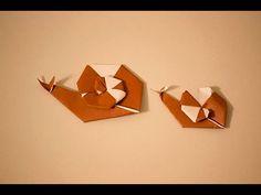 【折紙(origami)】カタツムリ 2 Snail 2 - YouTube