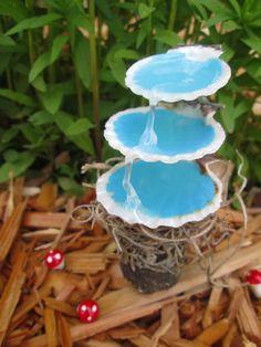 Fuente de agua hada jardín Seashell por MossHouseMiniatures