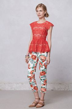 Peony Charlie trousers - Anthropologie