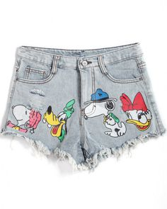 Shop Blue Cartoon Snoopy Print Denim Shorts online. Sheinside offers Blue Cartoon Snoopy Print Denim Shorts & more to fit your fashionable needs. Free Shipping Worldwide!