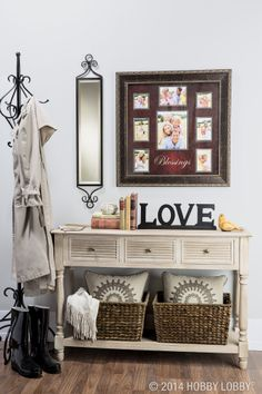 Give guests a warm welcome by enhancing your entryway!