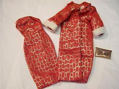 Vintage Golden Elegance Barbie Clone Outfit Dress Coat Purse EX Cond   eBay - sold for $46.56 - I have the dress and purse.