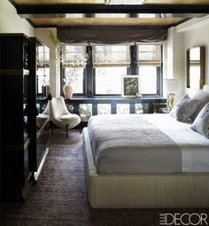 Cameron Diaz's bedroom per Elle Decor via glo. // This room speaks my language.