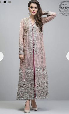 Georgette Pakistani Suit In Baby Pink Colour - Pakistani dresses Pakistani Party Wear, Indian Party Wear, Pakistani Bridal Dresses, Pakistani Suits, Indian Dresses, Indian Outfits, Emo Outfits, Designer Salwar Kameez, Pakistani Salwar Kameez