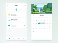 Beautiful List Ui For Mobile App Mobile App Design, Mobile App Ui, Ux Design, Flat Design, Design Layouts, Graphic Design, Habit App, Calendar Ui, Card Ui