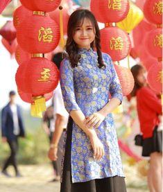Van Phuc Floral Natural Silkworm Ao Dai Vietnam New Design #Hienthaoshop #Casual