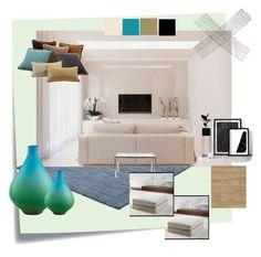 """""""Soggiorno minimal"""" by donatella-lo-presti on Polyvore featuring interior, interiors, interior design, Casa, home decor, interior decorating, Post-It e Cyan Design"""