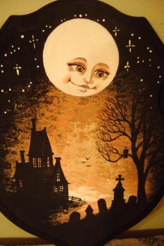 ❣Julianne McPeters❣ no pin limits Halloween Painting, Spooky Halloween, Holidays Halloween, Halloween Crafts, Happy Halloween, Halloween Decorations, Vintage Halloween Cards, Halloween Pictures, Hallowen Ideas
