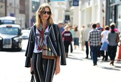 Tommy Ton Shoots the Street-Style Scene at the Spring 2013 Shows. Wish I could pull off stripes on stripes