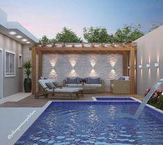 Pool Gazebo, Backyard Pool Landscaping, Backyard Pool Designs, Small Backyard Pools, Small Pools, Swimming Pools Backyard, Swimming Pool Designs, Ideas De Piscina, Outdoor Spaces
