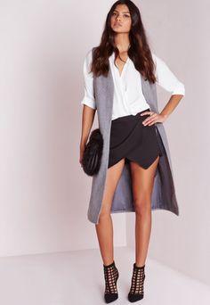 Verity Skort Black - Shorts - Missguided