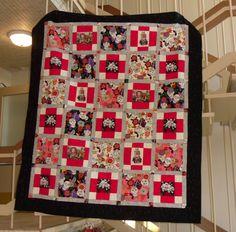 My Grand daughter's quilt.   Fabric by ALEXANDER HENRY FABRIC-LOS NOVIOS-SKULLS-SKELETONS