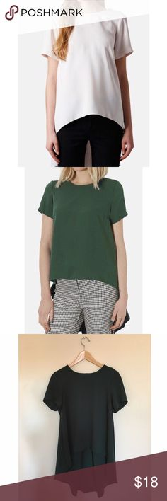 Selling this TOPSHOP high/low green blouse on Poshmark! My username is: smembren. #shopmycloset #poshmark #fashion #shopping #style #forsale #Topshop #Tops