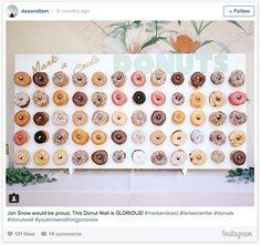 La 'pared de donuts' es la tentación 'bridal' que está arrasando en Instagram…