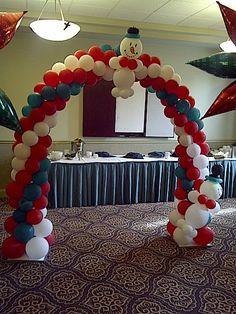 1000 images about decoraciones con globos para navidad on - Decoracion de navidad con globos ...