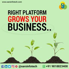 Do you want to grow your business?  We have plenty of ideas to boost your business in short period of time.  To know more visit @ www.sarsinfotech.com or Whatsapp on: +91 9818823408.  #business #businesspassion #startups #businesstips #businesslife #entrepreneurlife #marketing #enterpreneur #wealth #money #success #successfully #successmindset #entrepreneurquotes #entrepreneurgoals #enhancedmotivation #marketingtips #emailmarketing #digitalmarketingagency #onlinemarketer #digitalbusiness Business Marketing, Email Marketing, Business Tips, Online Business, Digital Marketing, Best Web Design, Web Design Company, Success Mindset, Entrepreneur Quotes