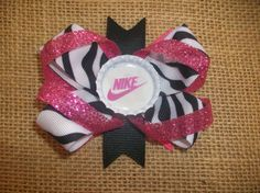 Nike Hair Clip Bow by ChickenWingsThings on Etsy, $3.50