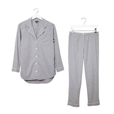 """Boyfriend""-style pajamas are made for single ladies who only need a high thread count and cable, thanks very much. The pajama top is casual enough to wear with a pair of jeans for forays into the outside world."