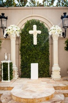Gorgeous Black and White Wedding Altar. .!