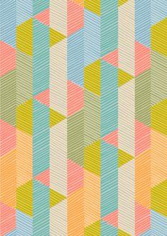 "ABURRIDO/TRISTE/PLANO contra VARIADO/COLORIDO igual PARED COLORES ""DIVERTIDA"" geometrical pattern"