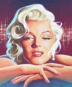 an art of Merylin. Marilyn Monroe Pop Art, Marilyn Monroe Portrait, Marilyn Monroe Photos, Dancing In The Moonlight, Hollywood, Norma Jeane, Erotic Art, Photo Manipulation, Artist At Work