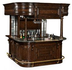 Fitzpatrick Irish Mahogany Home Bar Furniture Tavern Pub Man Cave Solid Home Caves And Furniture