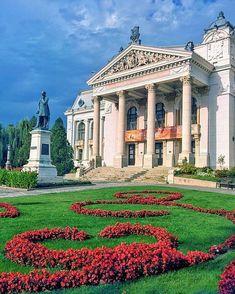 "National Theatre ""Vasile Alecsandri""   Iasi, Romania Visit Romania, Romania Travel, Europe On A Budget, National Theatre, Honeymoon Destinations, Photo Credit, Travel Photography, Places To Visit, Vacation"