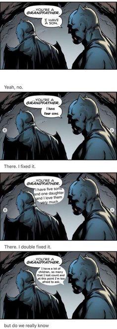 "2/02/18   8""36a   DC  Batman aka  Bruce Wayne    and Thomas Wayne  A Big Family Grandfather fandomfabric.com"