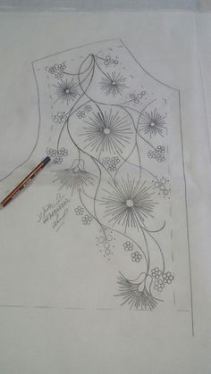 Wonderful Ribbon Embroidery Flowers by Hand Ideas. Enchanting Ribbon Embroidery Flowers by Hand Ideas. Embroidery Neck Designs, Crewel Embroidery Kits, Embroidery Needles, Silk Ribbon Embroidery, Hand Embroidery Patterns, Leather Embroidery, Fabric Painting, Golden Blouse, Tambour
