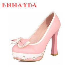 ENMAYDA Fashion 3 Color Wedding Bride Shoes White Petals Platform High  Heels Shoes Women Pump Korean 76161c40b6fb