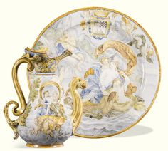 Two Venice maiolica vases, circa 1570-75