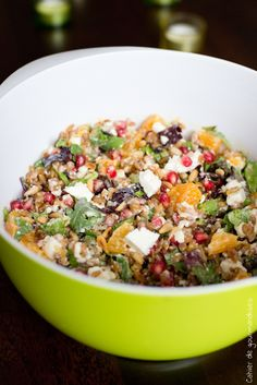 Super Versatile Quinoa Salad- Quinoa is a healthy addition to any diet, high in protein,and fiber. Try my delicious, super healthy quinoa salad. Mexican Quinoa Salad, Mediterranean Quinoa Salad, Quinoa Salad Recipes, Clean Eating, Healthy Eating, Healthy Food, Quinoa Health Benefits, Cilantro Dressing, Lime Dressing