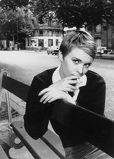 Jean Seberg, 1960s French Star; preppy with a pixie cut